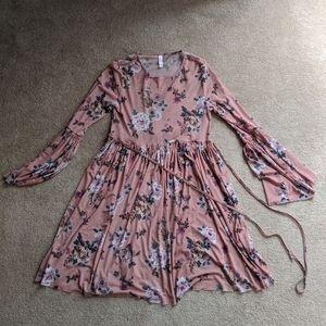 Xhilaration Sheer Floral Dress